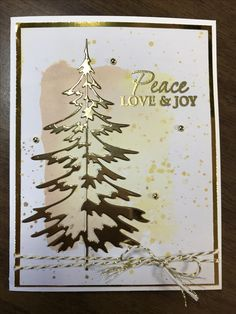 Tim Holtz Woodlands die. Christmas card.