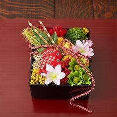 正月用:お花のおせちアレンジメント