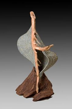 Available woven sculpture pieces by Deborah Smith. Contemporary basket work created using driftwood and dyed or stained reed. Willow Weaving, Basket Weaving, Weaving Art, Hand Weaving, Contemporary Baskets, Modern Baskets, Making Baskets, Bountiful Baskets, Bamboo Art