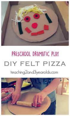 Pretend Play Pizzeria for Preschool - Teaching 2 and 3 Year Olds Perfect for our dramatic play area! Fun Activities For Preschoolers, Preschool Activities, Preschool Food, Geography Activities, Family Activities, Dramatic Play Area, Dramatic Play Centers, Preschool Lesson Plans, Preschool Learning