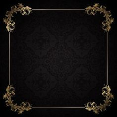 Elegante marco dorado sobre un fondo neg. Black Background Wallpaper, Book Background, Invitation Background, Poster Background Design, Framed Wallpaper, Background Patterns, Textured Background, Gold And Black Background, Bg Design