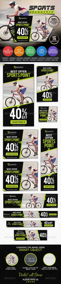 Sports Shop Banner Set - Banners & Ads Web Elements