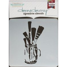Donna Downey Signature Stencils inch-Brushes In Jar Color: Multicolor. Painting Tools, Artist Painting, Scrapbooking, Scrapbook Pages, Foam Carving, Arts And Crafts, Paper Crafts, Stippling, Simon Says Stamp