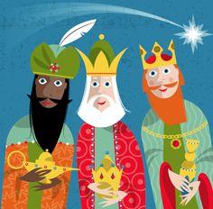 One seasonal holiday remains - El Día de Los Reyes Magos, or Three Kings Day. Watercolor Christmas Cards, Christmas Drawing, We Three Kings, Kings Day, A Christmas Story, Christmas Themes, Merry Christmas, Xmas, Free Images For Websites