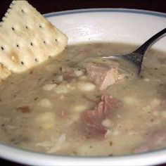 US Navy Bean Soup on BigOven: A very hearty and warming soup my husband loved while stationed on the USS Independence. Since he was a Medic he was buddies with everyone and got the recipe from one of the cooks before he left. He held on to the recipe for years.