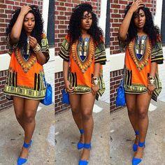 2016 Women African Dashiki Shirt Kaftan Boho Hippe Gypsy Festival Tops Party Dress