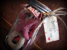 decorating primitives windows for valentines day   Valentines Day Decor Primitive Holiday Decoration by ThatSallie