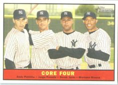 2010 Topps Heritage Baseball Card # 411 Derek Jeter - Pettitte - Posada - Rivera (Core Four) New York Yankees - MLB Trading Card by Topps. $7.95. 2010 Topps Heritage Baseball Card # 411 Derek Jeter - Pettitte - Posada - Rivera (Core Four) New York Yankees - MLB Trading Card
