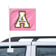 Appalachian State Mountaineers Fashion Car Flag – Pink - $12.99