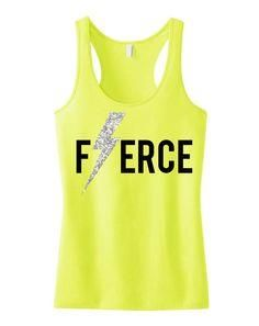 FIERCE Glitter Light     FIERCE Glitter Lightning  #Workout   #Tank  by  #NobullWomanApparel , for only $24.99! Click here to buy  www.etsy.com/...