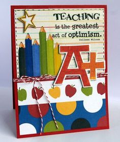 @Deana Boston created this fabulous teacher appreciation card using SRM Stickers and paper from her stash!  Love my stash! :)