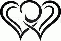 tribal hearts heart draw drawings step drawing clipart easy dragoart drawn pencil fox clip simple steps pop cliparting library cliparts