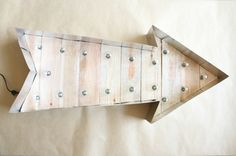 DIY Arrow Light | Lovely Indeed I think I would change up the materials a bit but nice instructions.