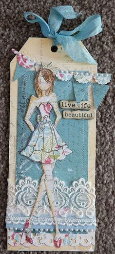 Creative Mayhem: Prima Mixed Media Doll Stamps ...Strapless and Bolero Dolls by Julie Nutting #scrapbookideas