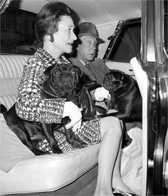 The Duchess and Duke of Windsor with their pugs in 1968.