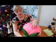 МК Стойка из 3 х ранункулюсов гофре бумага - YouTube