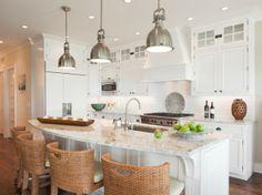 Suzie: Richard Bubnowski Design - Amazing kitchen with white kitchen cabinets with granite ...