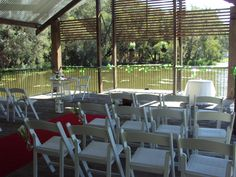 The lagoon at the Sandstone Hotel Bribie Island Queensland, a beautiful bush chapel. An oasis in a cool bush location, sheltered from rain or sun. Perfect place to exchange your vows.  #Bestoutdoorlocations #kaywaldingcelebrant