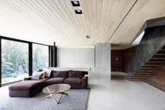 espace salon principal - La-Heronniere par Alain Carle Architecte - Québec, Canada