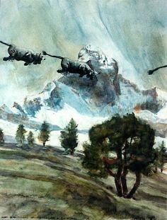 VACHES FAÇON CHAGALL de Dominique Studer peintre valaisan suisse