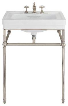 Lutezia 28 Inch Console Lavatory Sink by Porcher - traditional - bathroom sinks - Vintage Tub & Bath