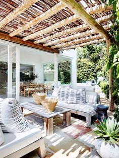 stunning backyard ideas for patios, porches, and decks 55 45 Outdoor Rooms, Outdoor Living, Outdoor Decor, Indoor Outdoor, Outdoor Lounge, Backyard Storage Sheds, Gazebos, French Style Homes, Mediterranean Decor