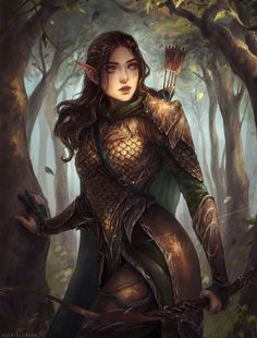 """spassundspiele: """"Nightbreeze – fantasy character concept by Astri Lohne Sjursen , inspired by The Lord of the Rings """" [suggested by @meanwhile-in-canada ]"""
