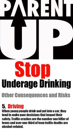 www.PARENTUPKC.com  Stop Underage Drinking... Other consequences and risks... 5. Driving