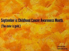 September - Childhood Cancer Awareness