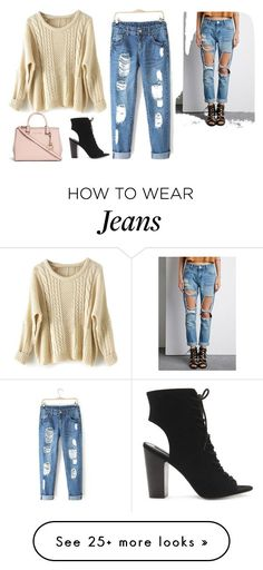 Boyfriend Jeans by secretmermaidx on Polyvore featuring Forever 21, Michael Kors, womens clothing, womens fashion, women, female, woman, misses, juniors and boyfriendjeans