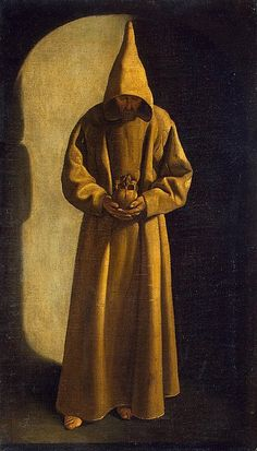 Francisco de Zurbaran - St Francis with a Skull in his Hands