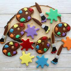 Paint Palette Cookies!