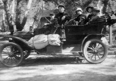 A family trip in Trabuco Canyon, CA, in a Ford Model T, circa 1914. www.jeffreymarkell.com #orangecountyrealtor #jeffforhomes #luxury