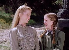 Little house on the prairie. Laura and Mary. From Melissa Sue Anderson Fan Website
