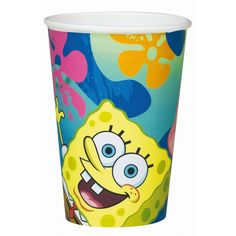 Spongebob bekers 6 stuks. Deze kartonnen Spongebob bekers zijn altijd leuk voor kinderverjaardagen! Inhoud: ongeveer 200 ml.