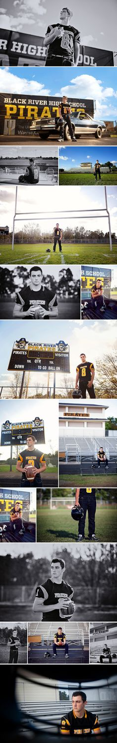 Northeast Ohio Senior Photography - Football Photo Session - The Picture Show LLC