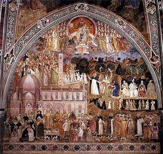 Florenz, Chiesa Santa Maria Novella, Spanische Kapelle, Allegorie der Kirche, Fresko von Andrea Bonaiuto (Allegory of the Church) | da HEN-Magonza