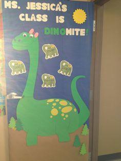 Dinosaur decoration classroom door