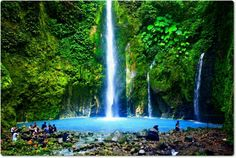 Sibolangit waterfall, North Sumatra. Indonesia