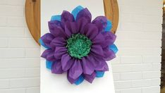 Check out this item in my Etsy shop https://www.etsy.com/uk/listing/251659771/pompom-large-45cm-purple-peacock-tissue