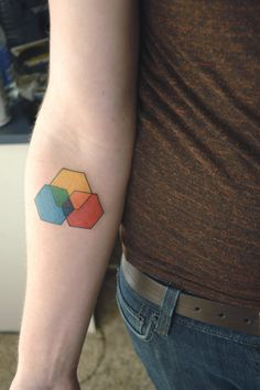 Hexagon tattoo