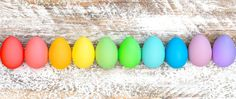 Colorful Easter eggs decoration Holidays banner