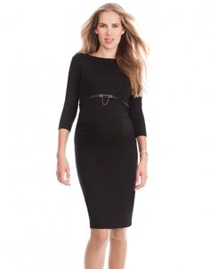 Maternity Shift Dress - Black