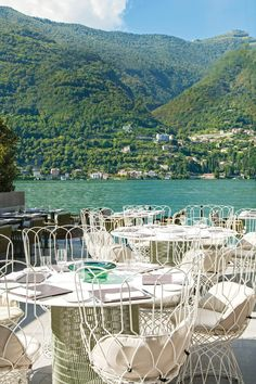 Como, Italy View from the lakeside restaurant terrace at I.Lake Como, Italy View from the lakeside restaurant terrace at I. Places To Travel, Places To See, Travel Destinations, Beautiful Hotels, Beautiful Places, Beautiful Pictures, Lakeside Restaurant, Italy Restaurant, Terrace Restaurant