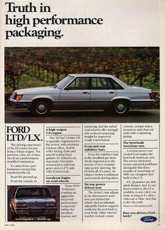 1984 Ford LTD ad.