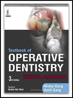 Textbook of Operative Dentistry 3rd Edition  by Nisha Garg (Author), Amit Garg (Author)   Product Details 	Paperback: 544 pages 	Publisher: Jaypee Brothers Medical Pub; 3 edition (August 30, 2015) 	Language: English 	ISBN-10: 935152633X 	ISBN-13: 978-9351526339 	Product Dimensions: 8.4 x 0.9 x 10.9 inches     Textbook of Operative Dentistry is the latest edition of this richly illustrated resource, covering diagnosis, treatment and prognosis of dental problems which do not require full…