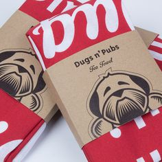 Awesome tea towels and packaging for http://www.DugsWelcome.com