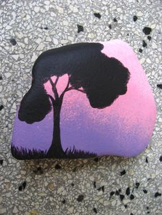 intuitive painting, stone painted with acrylic paints