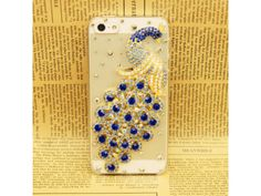 3D Crystal Peacock iPhone 5 Case (Blue)