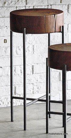 Roost Acacia Slab Side Tables #LogFurniture